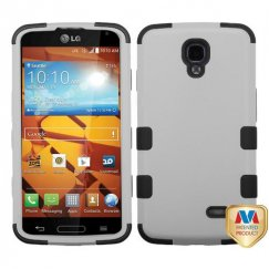 LG LS740 Volt Rubberized Gray/Black Hybrid Case