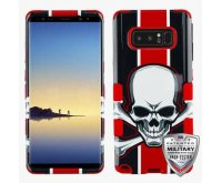 UnionJackSkull/Red Hybrid Phone Protector Cover [Military-Grade Certified]