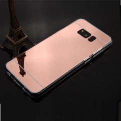 Samsung Galaxy S8 Rose Gold/Transparent Clear Gummy Cover