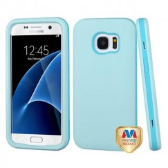 Samsung Galaxy S7 Blueberry Blue/Baby Blue Hybrid Case