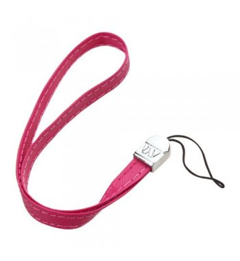 (5PCS) Hot Pink Leather Hand Wrist Lanyard (7.5inch)