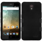 ZTE Avid Plus / Maven 2 Rubberized Black/Black Hybrid Case