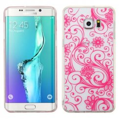 Samsung Galaxy S6 Edge Plus Hot Pink four-leaf Clover Candy Skin Cover