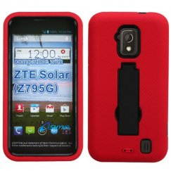 ZTE Solar Black/Red Symbiosis Stand Case