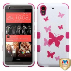 HTC Desire 626 Butterfly Dancing/Hot Pink Hybrid Case