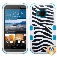 HTC One M9 Zebra Skin/Tropical Teal Hybrid Case