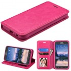 Samsung Galaxy S7 Active Hot Pink Wallet with Tray