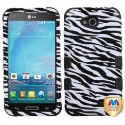 LG Optimus L90 Zebra Skin/Black Hybrid Case