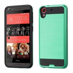 HTC Desire 555 Teal Green/Black Brushed Hybrid Case