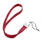 (5PCS) Red Leather Hand Wrist Lanyard (7.5inch)