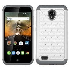 Alcatel One Touch Conquest Pearl White/Gray FullStar Case