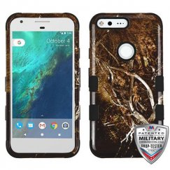 Google Pixel Yellow/Black Vine/Black Hybrid Case - Military Grade