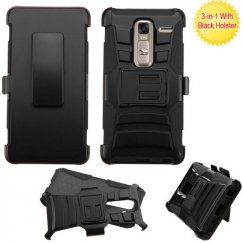 LG Class / Zero Black/Black Advanced Armor Stand Case with Black Holster