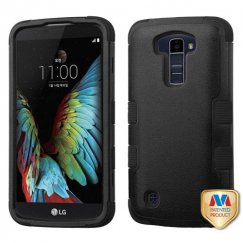 LG K10 Natural Black/Black Hybrid Case