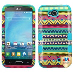 LG Optimus L90 Tribal Sun/Tropical Teal Hybrid Case