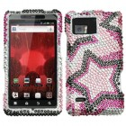 Motorola Droid Bionic Twin Stars Diamante Case