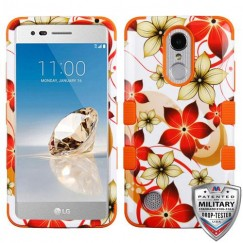 Hibiscus Flower Romance/Orange Hybrid Phone Protector Cover [Military-Grade Certified]