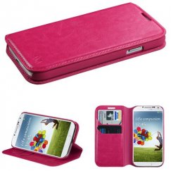 Samsung Galaxy S4 Hot Pink Wallet with Tray