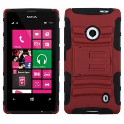 Nokia Lumia 521 Red/Black Advanced Armor Stand Case