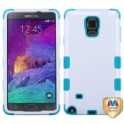 Samsung Galaxy Note 4 Ivory White/Tropical Teal Hybrid Case