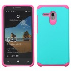 Alcatel One Touch Fierce XL Teal Green/Hot Pink Astronoot Phone Protector Cover