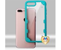 Transparent Clear/Turquoise FreeStyle Challenger Hybrid Protector Cover