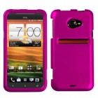 HTC EVO 4G LTE Titanium Solid Hot Pink Phone Protector Cover