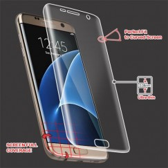 Samsung Galaxy S7 Edge Screen Protector with Curved Coverage
