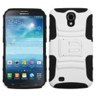 Samsung Galaxy Mega White/Black Advanced Armor Stand Protector Cover