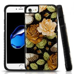 Lucky Flowers Gel/Black Glitter Fusion Protector Cover