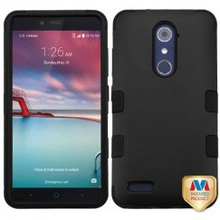 ZTE Grand X Max 2 Rubberized Black/Black Hybrid Case