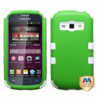 Samsung Galaxy Ring Rubberized Dr Green/Solid White Hybrid Case
