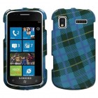 Samsung SGH-i917 Focus Blue Plaid Weave Case