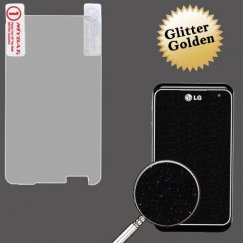 LG Motion 4G Glitter LCD Screen Protector/Golden