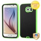 Samsung Galaxy S6 Rubberized Black/Lightning Electric Green Hybrid Case
