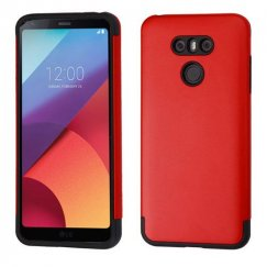 LG G6 Red Glossy/Black Hybrid Case