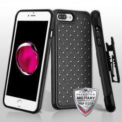 Black/Black FullStar Contempo Hybrid Protector Cover (with Black Horizontal Holster)
