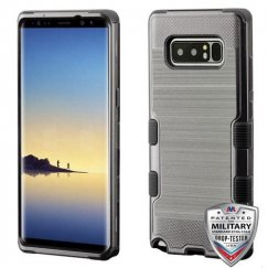 Samsung Galaxy Note 8 Dark Gray Brushed/Black Hybrid Case Military Grade