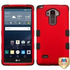 LG G Stylo Titanium Red/Black Hybrid Case