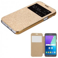 Samsung Galaxy J3 Gold Glittering (with Transparent Frosted Tray)(96F) -WP