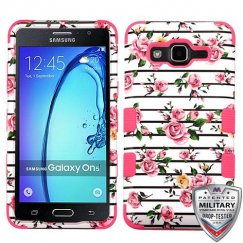 Samsung Galaxy On5 Pink Fresh Roses/Electric Pink Hybrid Case