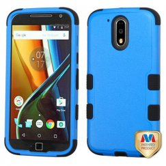 Motorola Moto G4 / Moto G4 Plus Natural Dark Blue/Black Hybrid Case