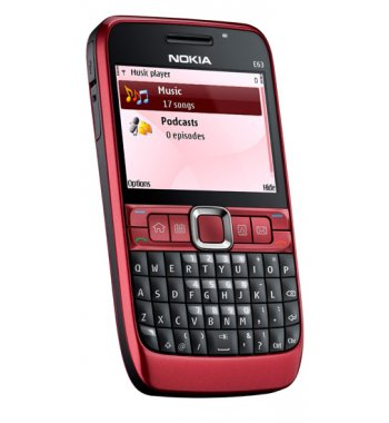 Nokia E63 Bluetooth WiFi PDA RED Smart Phone Unlocked