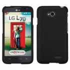 LG Optimus L70 Black Phone Protector Cover(Rubberized)