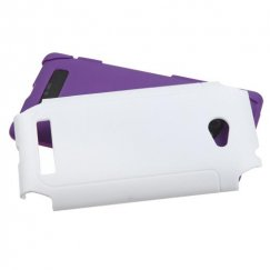 HTC Windows Phone 8x White/Electric Purple Frosted Fusion Case
