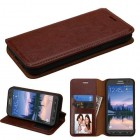 Samsung Galaxy S7 Active Brown Wallet with Tray