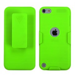Apple iPod Touch (5th Generation) Rubberized Apple Green Hybrid Holster