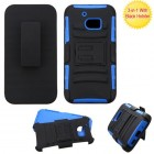 HTC 10 Black/Dark Blue Advanced Armor Stand Protector Cover (With Black Holster)