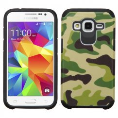 Samsung Galaxy Core Prime Camouflage Green/Black Advanced Armor Case
