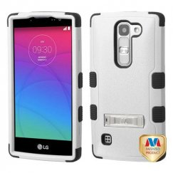 LG Escape 2 Natural Gray/Black Hybrid Case with Stand